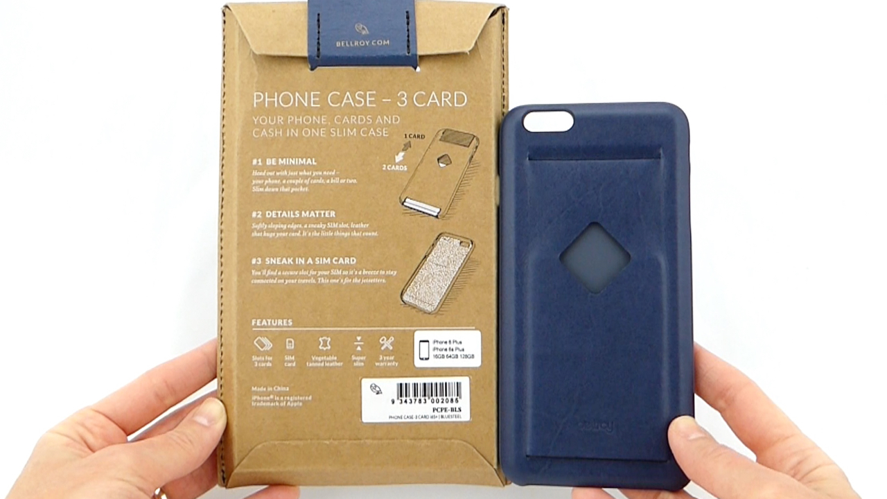 wholesale dealer 4a284 e476f Bellroy 3 Card: Luxurious Leather Card Case for the iPhone 6s Plus ...